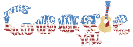 4th of July Red White and Blue Themed Google Logo Design