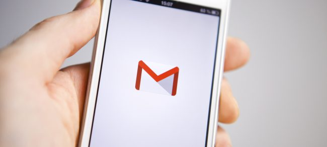 Gmail icon displayed on mobile phone