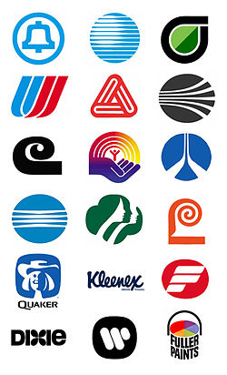 Sample of Logos by Saul Bass