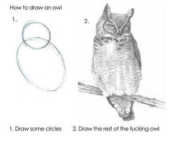 How To Draw An Owl In Two Steps