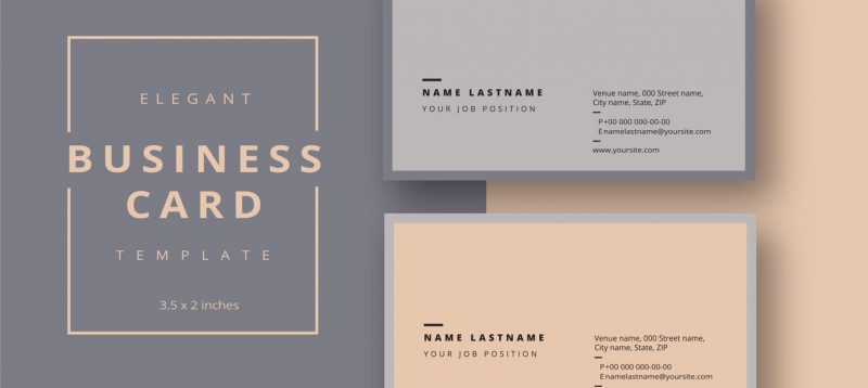 Trendy minimal abstract business card template.