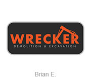 Wrecker construction logo