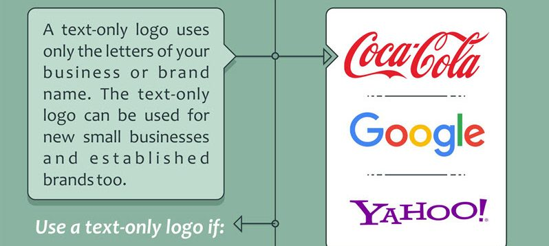 how to choose text for a logo