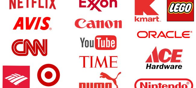 examples of red logos