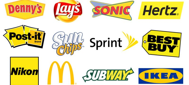 examples of yellow logos