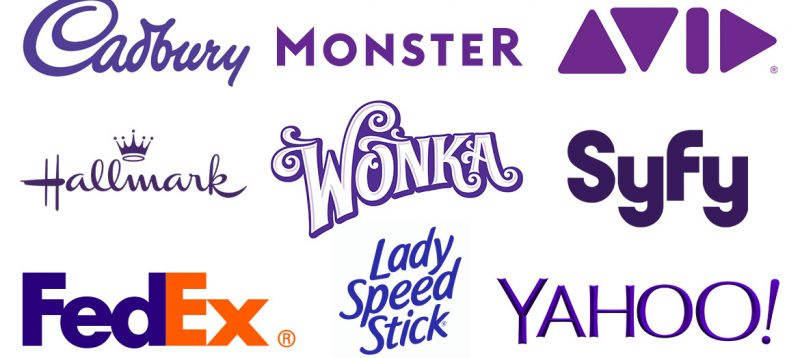 examples of purple logos
