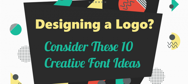 10 creative font ideas infographic