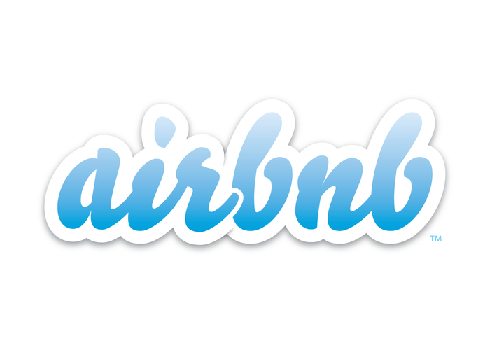 Airbnb Scripted Text Based Logo Design with a drop shadow