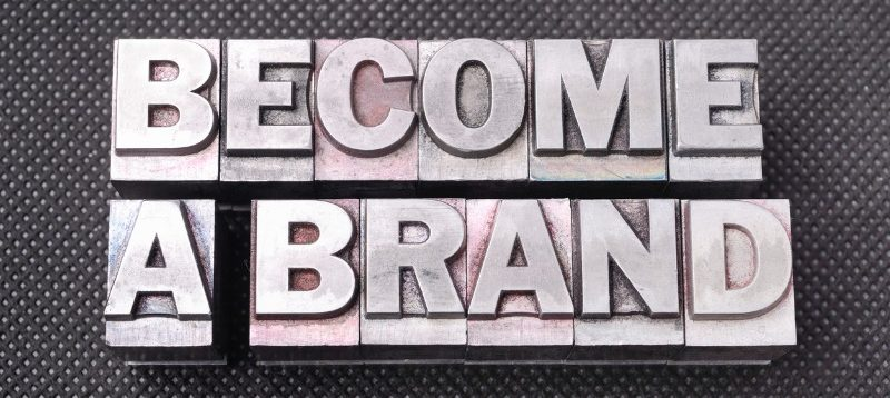 """image with typblock letters spelling """"become a brand"""""""