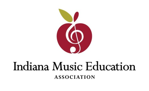 Indiana Music Education Music Note within an Apple Logo Design