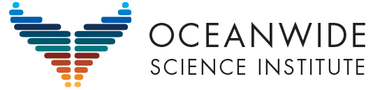 Oceanwide Science Institute Whale Tail Logo Design