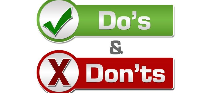 Do's & don't button