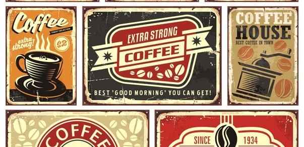 collection of vintage coffee house logos