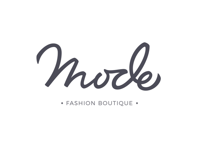 Fashion boutique logo design with modern font