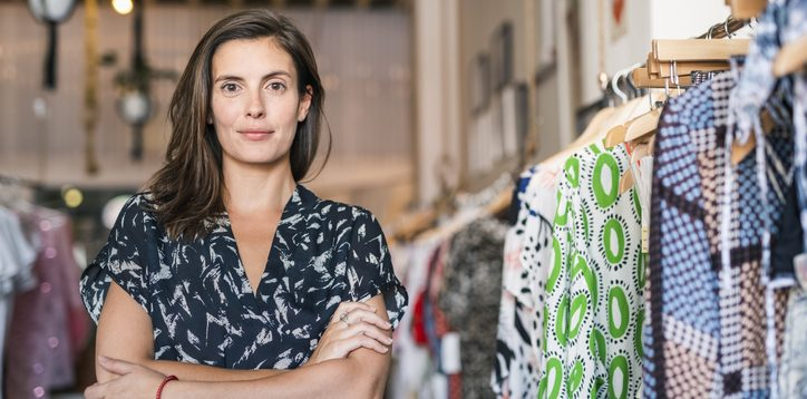 female boutique clothing store owner