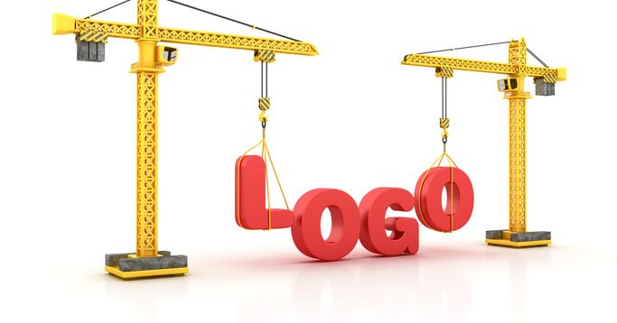"the word ""logo"" being constructed"