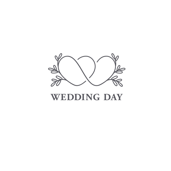 Connected hearts wedding logo