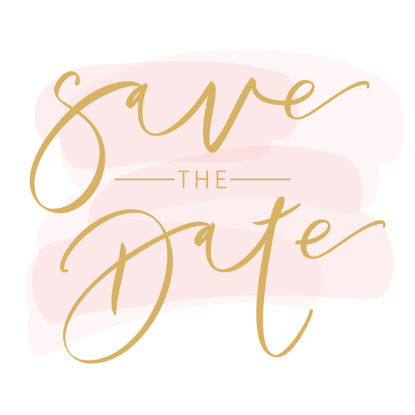 Save the date cursive text
