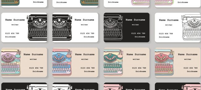 Artsy Business Cards