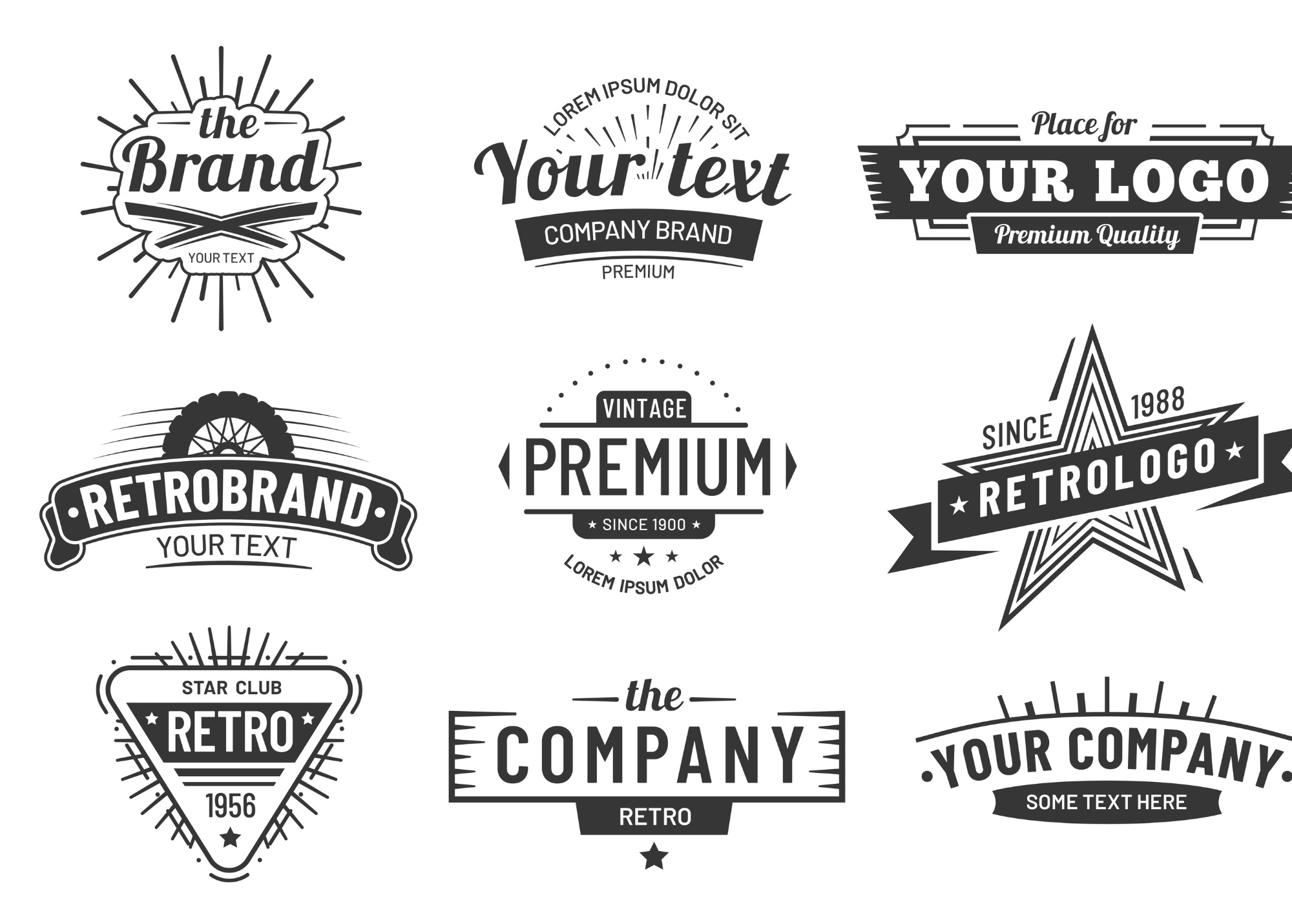 Vintage Logos of all types